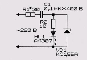 Индикатор напряжения 220 в на светодиодах